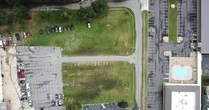 Opinión aérea del paisaje americano suburbano almacen de video