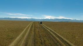 Opinión aérea del paisaje de las montañas del Cáucaso almacen de video