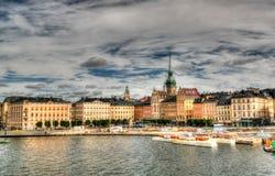 Opinión aérea del panorama a Stokholm del punto de vista de Katarina en Stok foto de archivo libre de regalías