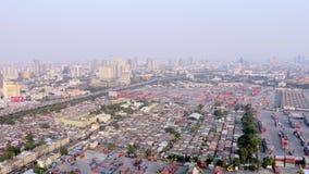 Opinión aérea del puerto de Bangkok almacen de video