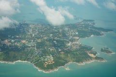 Opinión aérea del samui de la KOH foto de archivo