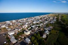 Opinión aérea del suburbio Imagen de archivo libre de regalías