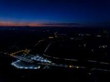 Opinión aérea del transporte de la ciudad Imagen de archivo