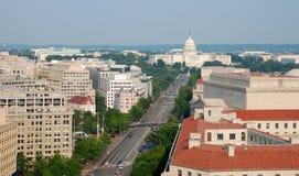 Opinión aérea del Washington DC Imágenes de archivo libres de regalías