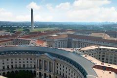 Opinión aérea del Washington DC Fotografía de archivo libre de regalías