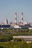 Opinión aérea el capital de Moscú, Rusia Fotografía de archivo libre de regalías
