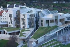 Opinión aérea el parlamento escocés Imagen de archivo libre de regalías