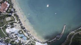 Opinión aérea el santo Martin Beach Fotos de archivo