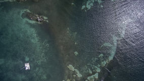 Opinión aérea el santo Martin Beach Imagenes de archivo