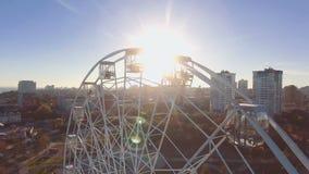 Opinión aérea Ferris Wheel en Stalingrad metrajes