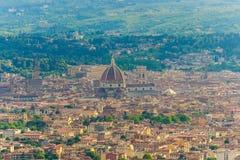 Opinión aérea Florence Italy, del terrazo Fiesole Fotografía de archivo libre de regalías