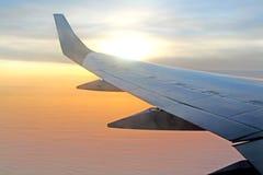 Opinión aérea hermosa de la salida del sol Foto de archivo
