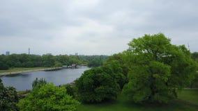 Opinión aérea Hyde Park en Londres almacen de metraje de vídeo
