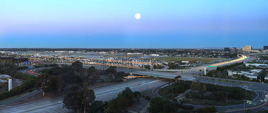 Opinión aérea John Wayne Airport en el Condado de Orange fotos de archivo libres de regalías