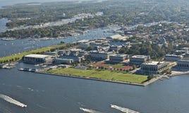 Opinión aérea la Academia Naval de los E.E.U.U. fotos de archivo libres de regalías