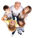 Opinión aérea la familia feliz imágenes de archivo libres de regalías