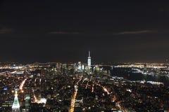 Opinión aérea Manhattan de New York City Foto de archivo