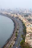 Opinión aérea Marine Drive en Bombay Imagenes de archivo