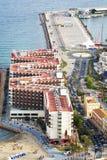 Opinión aérea Melia Hotel de lujo en Alicante España Foto de archivo libre de regalías