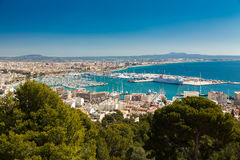 Opinión aérea Palma de Mallorca, España Imagen de archivo libre de regalías