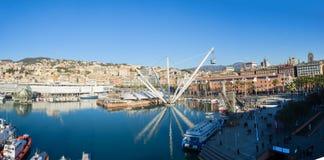Opinión aérea panorámica de Genoa Genova de fotos de archivo