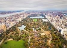 Opinión aérea panorámica de Manhattan de Central Park Foto de archivo