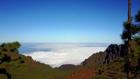Opinión aérea Pico del Teide en Tenerife almacen de metraje de vídeo