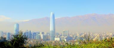 Opinión aérea Santiago de Chile Foto de archivo libre de regalías