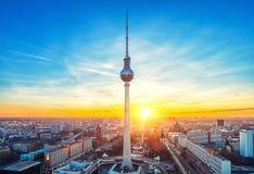 Opinión aérea sobre Alexanderplatz en Berlín Fotografía de archivo libre de regalías