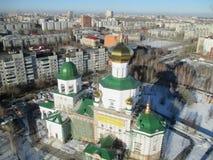 Opinión aérea sobre capilla del templo en honor de señora Day Fotos de archivo libres de regalías