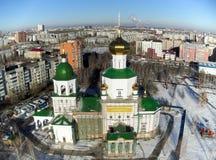 Opinión aérea sobre capilla del templo en honor de señora Day Imágenes de archivo libres de regalías