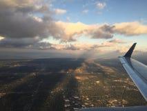 Opinión aérea sobre el avión Fotos de archivo libres de regalías