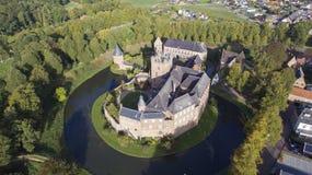 Opinión aérea sobre el castillo de Bergh de los huis imágenes de archivo libres de regalías