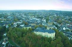 Opinión aérea sobre el castillo de Schwanenburg fotos de archivo