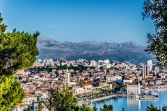 Opinión aérea sobre el viejo centro de ciudad, Croacia partido Imagen de archivo libre de regalías