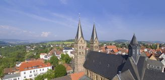 Opinión aérea sobre Fritzlar Imagen de archivo libre de regalías