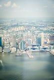 Opinión aérea sobre Jersey City Imagen de archivo libre de regalías
