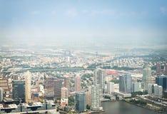 Opinión aérea sobre Jersey City Fotografía de archivo libre de regalías