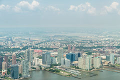 Opinión aérea sobre Jersey City Imagen de archivo