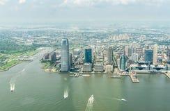 Opinión aérea sobre Jersey City Imagenes de archivo