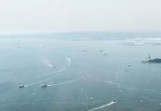 Opinión aérea sobre Jersey City Fotos de archivo