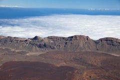 Opinión aérea sobre la caldera del volcán Teide, Tener Fotografía de archivo libre de regalías