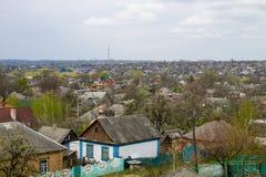 Opinión aérea sobre la ciudad Alexandría Fotografía de archivo