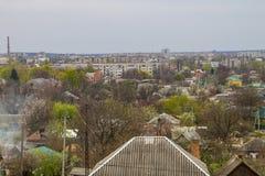 Opinión aérea sobre la ciudad Alexandría Fotografía de archivo libre de regalías