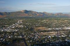 Opinión aérea sobre la ciudad de Townsville Imagen de archivo libre de regalías