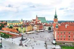 Opinión aérea sobre la ciudad vieja de Varsovia, Polonia Fotos de archivo libres de regalías