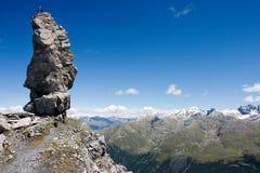 Opinión aérea sobre las montan@as (grupo de Ortler) Imagen de archivo libre de regalías