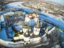 Opinión aérea sobre monasterio de la trinidad santa Fotografía de archivo