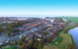 Opinión aérea sobre Muiden Imagen de archivo libre de regalías