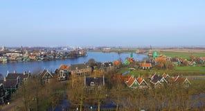 Opinión aérea sobre Zaandam Fotografía de archivo libre de regalías